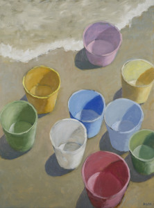 Robert Ross, Bucket List, oil on canvas, 40 x 30 inches