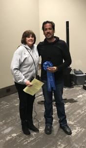 Award of Excellence ($2,500) to David David Figueroa, sculpture, presented by IMAGES Coordinator Nance Koch.